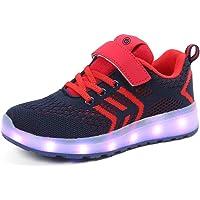 Moquite Scarpe LED Bambini Bambina 7 Colore USB Carica Sneaker Scarpe Unisex Bambino Scarpe con Luci Scarpe LED Luminosi…