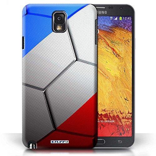 Coque en plastique pour Samsung Galaxy Note 3 Collection Nations de Football - Portugal France/Français