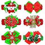 Accessories Best Deals - Itaar Baby Christmas Headbands Holiday Hair Accessories Toddler Girls Elastic Hair Band with Hair Bows Clips (2)
