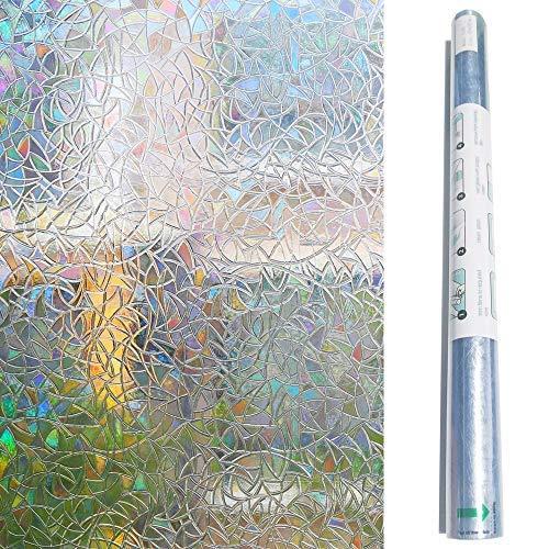 Zindoo Vinilos para Cristales Vinilo de Ventana Pegatina Ventana Vinilos Decorativos Cristales para El Cristal De Ventanal De Baño Cocina Oficina Control De Calor y Anti UV (44.5 * 200cm)
