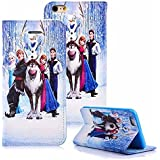 Niedliche Schutzhüllen mit Disney-Motiven für Kinder, Schutz für Vorder- und Rückseite mit sicherem Magnetverschluss und Standfunktion, Frozen Family Members, Samsung Galaxy S5 Mini