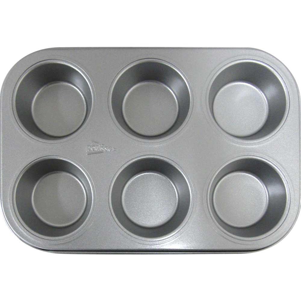 Patisse, Teglia da forno antiaderente con stampi per 6 muffin, modello (i7H)