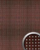 Wandpaneel Wandplatte WallFace 10059 3D QUAD Quadrat Dekor Holz Design selbstklebend mahagoni silber   2,60 qm
