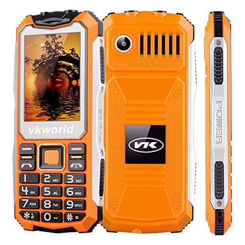 VKWORLD STONE V3S TELEFONO CELLULARE RESISTENTE / ROBUSTO IP65 ANTIURTO ANTIPOLVERE WATERPROOF DUAL SIM (ARANCIO)