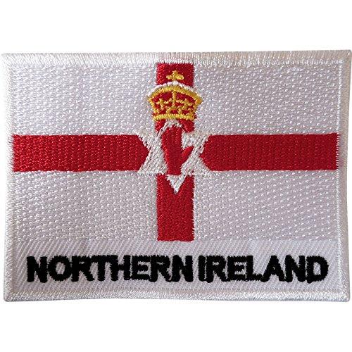 Die Irische Rugby-irland (Nordirland Flagge Patch Nähen auf Kleidung Jacke Ulster Irish gesticktes Badge)