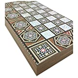 Star The 19'' Silver Backgammon Turkish Premium Board Game Set