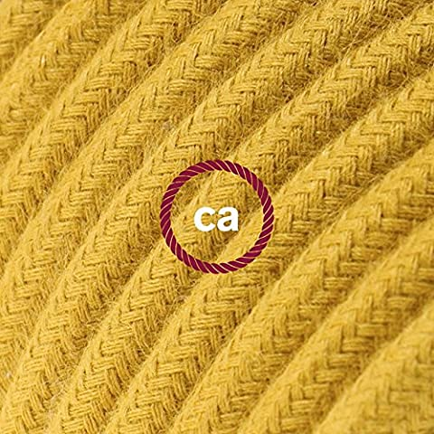 Cotton Fabric Covered Round Electrical Flex RC31 Golden Honey - 2x0.75, 10 Meters