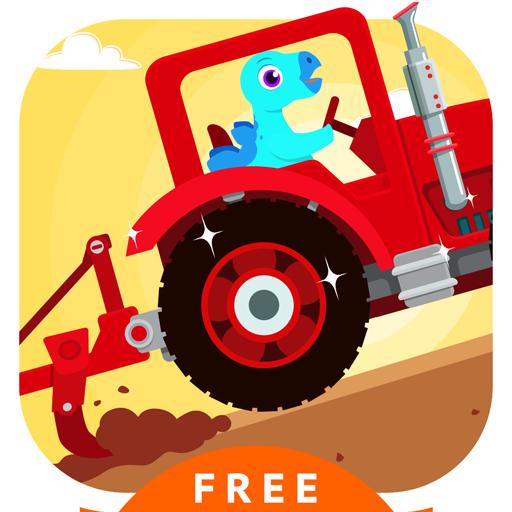 Dinosaur Farm - Tractor & Truck Simulator Games for kids free