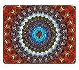 Liili Mauspad Natürliche Gummi Mauspad Schöne abstrakte Fractal Blumen Bild-ID 14106213