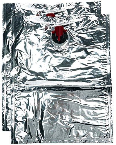 LABOUL Bag-in-Box Ungefüllte Beutel, Silberfarben, 2 Stück