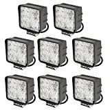 slpro® 8X LED 48W Phare de travail Lampe de travail 6000K 67ip de Marche Arrière Phare –-Tracteur –-Pelle Jardin Hall