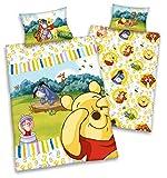 Biancheria da letto per bambini in cotone rinforzato, motivo Disney: Winnie the Pooh
