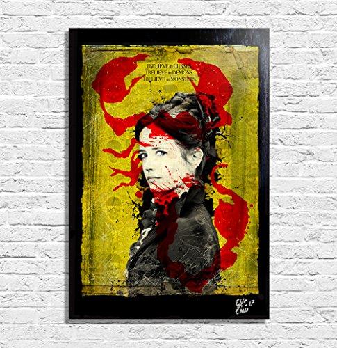 Vanessa Ives aus Penny Dreadful Fernsehserie - Original Gerahmt Fine Art Malerei, Pop-Art, Poster, Leinwand, Artwork, Film Plakat, Leinwanddruck