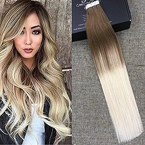 full-shine-24-zoll-20-stuck-50-gram-tape-in-hair-per-package-haarfarbe-8-fading-to-60-plautinum-blon