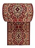WE LOVE RUGS CARPETO Läufer Teppich Flur Rot Beige - Orientalisch Muster - Kurzflor Teppichlaufer Verona Kollektion 120 x 200 cm