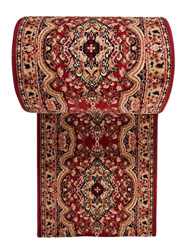 WE LOVE RUGS CARPETO Läufer Teppich Flur in Rot - Orientalisch Muster - Kurzflor Teppichlaufer Verona Kollektion 60 x 175 cm