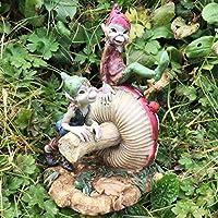 Pixie Brothers Sat En Una Seta Magical Mystery alta calidad Jardín Decoración Figuras Elfo & Fairy Niños altura: 14cm