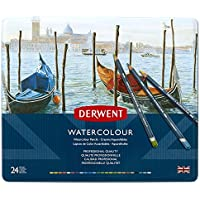 Derwent Watercolour Pencils Wooden Box - Multicoloured, Set of 72