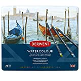 Derwent 32883 Watercolour Pencils, Multi-Colour, Set of 24
