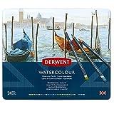 Derwent 32883 Watercolour Pencils, Multi-Colour, Set of 24