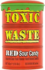 Candy Dynamics Toxic Waste RED Sour Candy, 42g