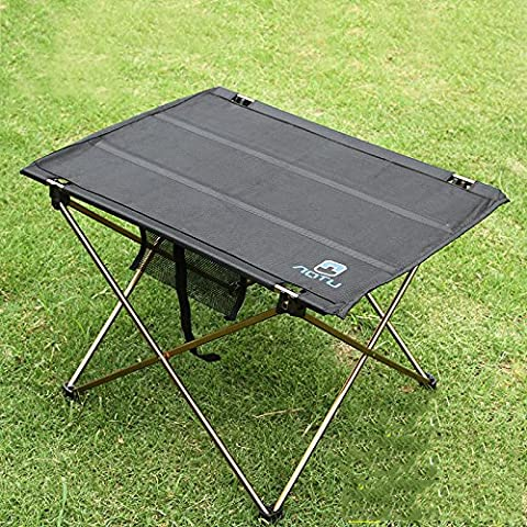 Al aire libre plegable Picnic mesa escritorio Barbacoa barbacoa té puerta – pata mesa aluminio Camping Senderismo
