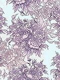 Decopatch Décopatch-Papier Pretty Purple 3 Blatt 20g/qm Motivpapier Kinder basteln kleben Klebepapier Decoupage Design-Papier Blume Lila