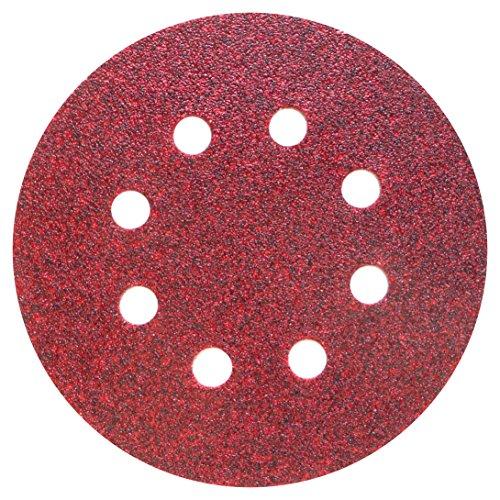 50 Stück Klingspor (Klett-) Schleifscheibe PL28CK | 125 mm | kletthaftend | 8er Lochung (GLS5) | Gipskarton / Trockenbau Exzenter-Schleifscheibe | Körnung wählbar (P36)