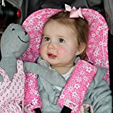 Minene Universal Pushchair Stroller Pram Buggy Liner Footmuff Cosytoes Car Seat with safety straps (Pink& White Flowers) Bild 1