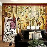 Lqwx Fototapete Bar KTV Persönlichkeit retro Europäischen Menschen Pharao von Ägypten Pyramiden 3D Wandbild Tapeten-200cmX140cm