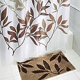 Inter Design Microfiber Leaves Bathroom Shower Accent Rug 34