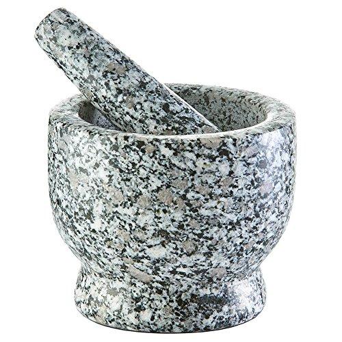 Zeller 24502 - Set di mortaio e pestello, granito, colore: grigio