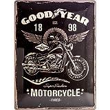 Nostalgic-Art 23242, Goodyear-Moto, Plaque en métal 30x 40cm...