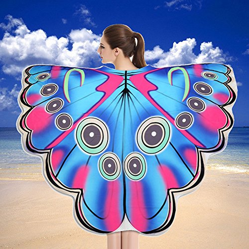 SOMESUN Sommer Mode Badetuch Dame Im Freien Gute Reise Schmetterlingsflügel Multifunktions Schal Weichen Stoff Fee Nettes Mädchen Kleidung Zubehör (Mädchen Lila Pixie Kostüme)