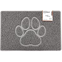 Nicoman PAW Embossed Shape Door Mat-(Use Indoor or Sheltered Outdoor), Spaghetti Doormat, Grey, Small (60x40cm)