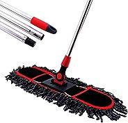 MEIBEI Hot Tub Scrub Brush/Dust Mop with Adjustable Long Handle Medium Black