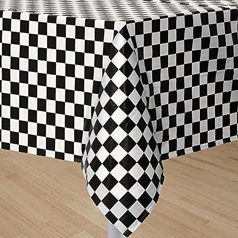 Ci giocattolo a scacchi corsa–Telo di copertura per tavolo bandiera a scacchi Racing festa Tovaglia (Bandiera A Scacchi Set)