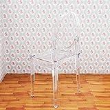 Odoria 1/6 Miniatur Möbel Esszimmerstuhl Rücklehne Stuhl - Plastik Klar Für Puppenhaus Möbel Zubehör
