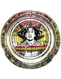 Bob Marley Buffalo Soldier marihuana Weed de cristal redondo cenicero