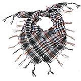 Bufanda de tela largo mantón para mujer bufanda Arafat diseño de cuadros con...