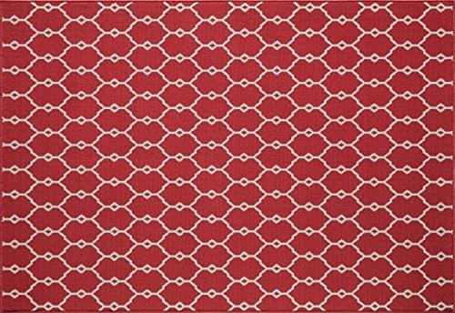 Outdoor-rot-teppich (In- und Outdoor-Teppich Balkon / Wohnzimmer Vitaminic Trellis rot 160 x 230 cm)