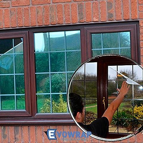 Silver Reflective Window Film (Solar Control & Privacy Tint - One Way Mirror / Mirrored Glass) (100cm x 3