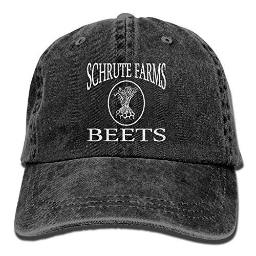 VTXINS Schrute Farms Beets Retro Washed Dyed Adjustable Denim Cap Low Profile,Snapback Caps Women Men Adjustable Baseball Cap Hats -