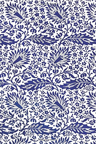 Vintage Blue Floral Design Pattern Journal: (Notebook, Diary, Blank Book) (Designs Patterns Journals Notebooks Diaries) -