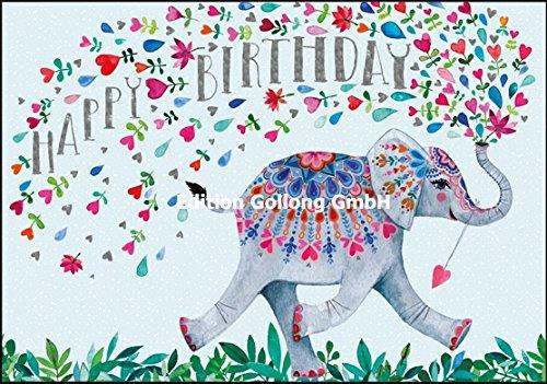 Glückwunschkarte zum Geburtstag ~ Mila Marquis ~ Elefant