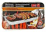 Nerd Clear Einweg-Grill Einmal-Grill Kohle-Grill Sofort-Grill Picknick-Grill Kohle-Grill Aluminium-Schale 38 cm
