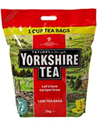 Yorkshire Tea, 1200 One Cup Tea Bags 3 Kg