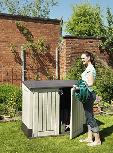 Keter 17197253 Aufbewahrungsbox Woodland, Kunststoff, Beige/Light Maroon - 6