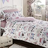 Festival Camper Van and Tent Double Duvet Cover and Pillowcase Set