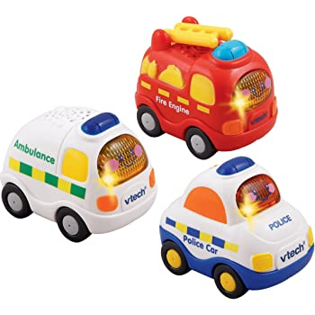 VTech 205803 Baby Toot-Toot Drivers Emergency Vehicles - Multi-Coloured, Pack of 3